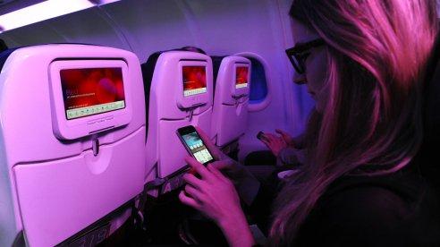 Entretenimiento en el avión